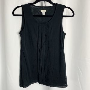 Chico's Tops - Chicos ruffle front black tank 0 Small sheer